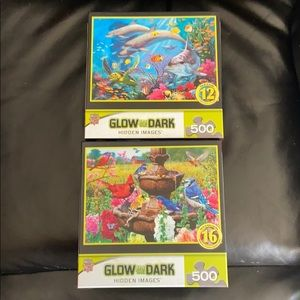 Set of two jigsaw puzzles